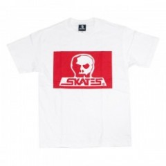 "SKULL SKATES ""BURBS Tシャツ"" (JAPANADA) White/Red"