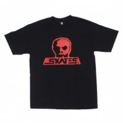 "SKULL SKATES ""BURBS Tシャツ"" (BLOOD OATH) Black/Red"