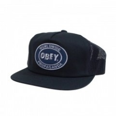 "OBEY キャップ ""OBEY OVAL PATCH TRUCKER"" (Black)"