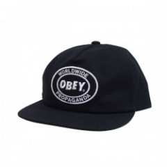 "OBEY キャップ ""OBEY OVAL PATCH SNAPBACK"" (Black)"