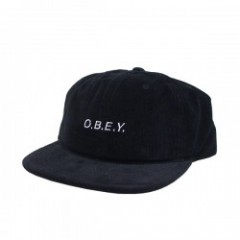 "OBEY キャップ ""GUNNY 6 PANEL HAT"" (Black)"