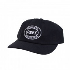 "OBEY キャップ ""VISION 6 PANEL SNAPBACK"" (Black)"