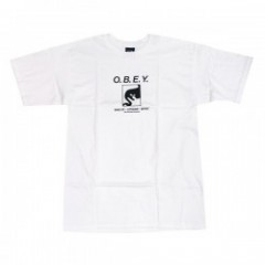"★20%OFF★ OBEY Tシャツ ""WAKE UP CONSUME REPEAT"" (White)"