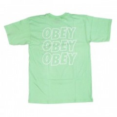 "OBEY Tシャツ ""OBEY JUMBLE LO - FI"" (Mint)"