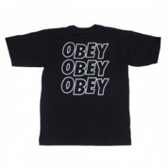 "OBEY Tシャツ ""OBEY JUMBLE LO - FI"" (Black)"
