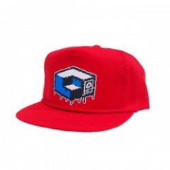 "MxMxM×CONSOLIDATED ""MAGICAL CUBE MISFITS CAP"" Red"