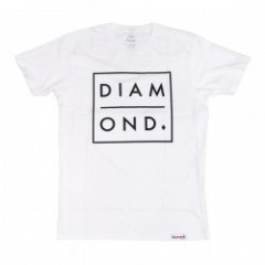 "★30%OFF★ Diamond Supply Co. ""OUTLINE TEE"" White"