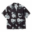 "RADIALL S/Sシャツ ""CHEVY ROSE OPEN COLLARED SHIRT S/S"" (Black)"