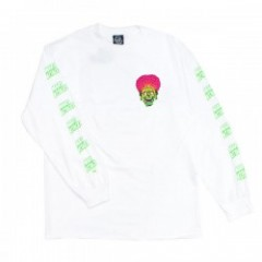 "SANTACRUZ ""MARS ATTACKS MARTIAN FACE L/S TEE"" (Wht"
