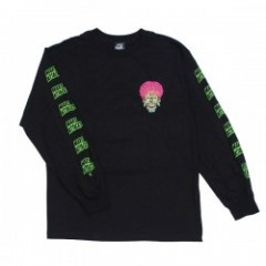 "SANTACRUZ ""MARS ATTACKS MARTIAN FACE L/S TEE"" (Blk"