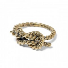 "ANIMALIA リング ""REEF KNOT RING-BRASS"""