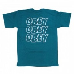 "OBEY Tシャツ ""OBEY JUMBLE LO-FI TEE"" (Teal)"