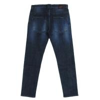 "Deviluse ""PENTAGRAM DENIM FADE SKINNY PANTS"""