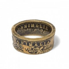 "ANIMALIA リング ""CA1849 Coin Ring-BRASS"""
