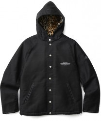 "CRIMIE ジャケット ""MILITARY HOODED BOA PARKA"" Black"