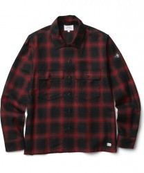 "CRIMIE L/Sシャツ ""CHECK SHIRT"" (Red)"
