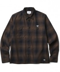 "CRIMIE L/Sシャツ ""CHECK WORK SHIRT"" (Brown)"