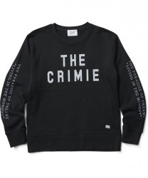 "CRIMIE クルースウェット ""LOGO CREW NECK SWEAT SHIRT"" (Black)"