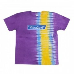 "RADIALL Tシャツ ""PSHYCO FRAG D.Y.E TEE S/S"" (Purple)"