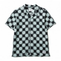 "★20%OFF★ CRIMIE S/Sシャツ ""ALOHA CHECK SHIRT"" (Blue)"