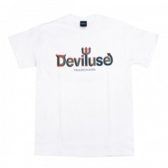 "Deviluse Tシャツ ""CUBIC LOGO TEE"" (White)"