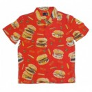 "MxMxM ""MAGICAL BURGER ALOHA SHIRT"" (Red)"