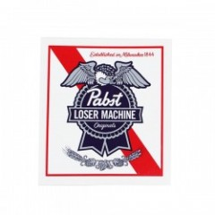 LOSER MACHINE × PABST BLUE RIBBON STICKER コラボステッカー (White/Red)