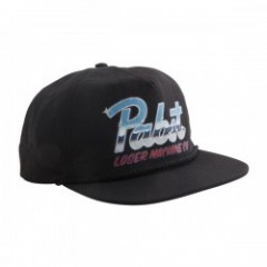 LOSER MACHINE × PABST BLUE RIBBON CHROME CAP コラボスナップバックキャップ (Black)