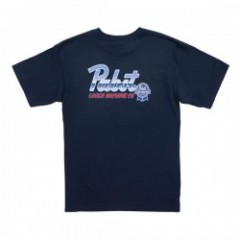 LOSER MACHINE × PABST BLUE RIBBON CHROME TEE コラボTシャツ (Navy)