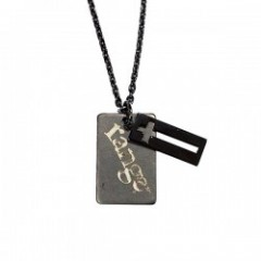 "range ネックレス ""CROSS PLATE NECKLACE"" (Black)"