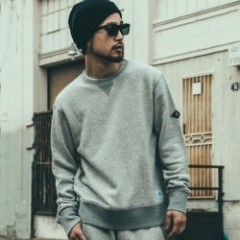 "CRIMIE ""CR ORIGINAL VINTAGE SWEAT CREW NECK"" (Gray"