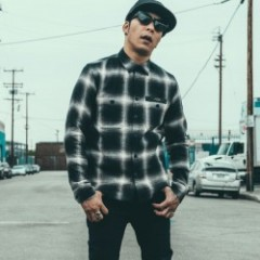 "CRIMIE L/Sシャツ ""CHECK NEL SHIRT"" (Black)"