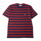 "【7月入荷予定】  MINOS ボーダーTシャツ ""KOISA CLASSIC STRIPE TEE"" (Navy/Red)"
