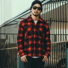 "CRIMIE ジャケット ""WOOL BOA CHECK JACKET"" (Red)"