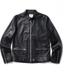 "CRIMIE ジャケット ""STAND COLLAR RIDERS LEATHER JACKT"" (Black)"
