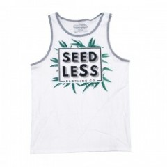 "seedleSs タンクトップ ""FOLIAGE TANK TOP"" (White)"