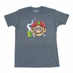 "seedleSs Tシャツ ""8 BIT MARIO TEE"" (Gray Heather)"