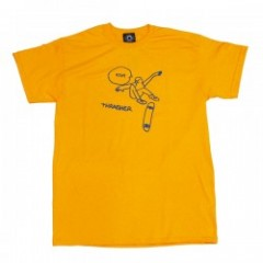 "THRASHER Tシャツ ""KCUF TEE"" (Gold)"