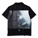 "★30%OFF★ CRIMIE × PLAYBOY コラボS/Sシャツ ""PLAYBOY POISON PHOTO SHIRT"" (Black)"