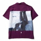 "★30%OFF★ CRIMIE × PLAYBOY コラボS/Sシャツ ""PLAYBOY BED PHOTO SHIRT"" (Purple)"