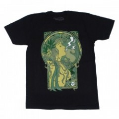 "★30%OFF★ seedleSs Tシャツ ""GREEN GIRL10 TEE"" (Black)"