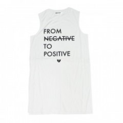 "Deviluse ""WOMAN TO POSITIVE SLEEVELESS"" (White)"