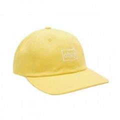 "OBEY キャップ ""OUTLINE 6 PANEL SNAPBACK CAP"" (Dusty Yellow)"