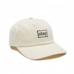 "OBEY キャップ ""OUTLINE 6 PANEL SNAPBACK CAP"" (Natural)"