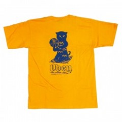 "OBEY Tシャツ ""CUTS & SCRATCHES TEE"" (Gold)"
