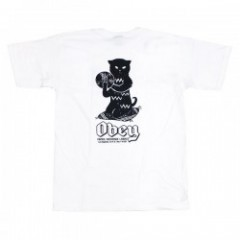 "OBEY Tシャツ ""CUTS & SCRATCHES TEE"" (White)"