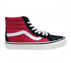 "VANS ""SK8-HI 38 DX"" (ANAHEIM FACTORY) OG BLACK/OG RED"