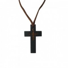 "range ネックレス ""WOODY CROSS NECKLACE Small"" (Brown)"