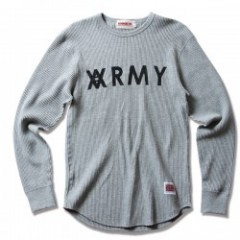 "ANIMALIA サーマル ""Thermal L/S AARMY"" (Gray)"