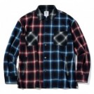 "MSML L/Sシャツ ""CRAZY PATTERN BALLOON OMBRE CHECK SHIRTS"" (Black/Red/Blue)"